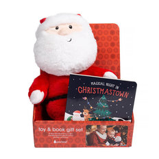 Book & Plush Santa Set