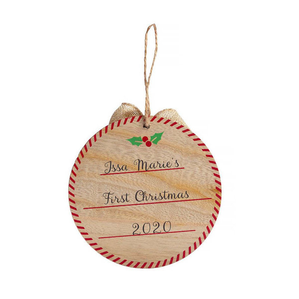 View larger image of My First Christmas Fill in Ornament