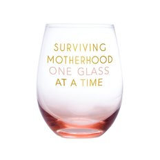 Surviving Motherhood Wine Glass
