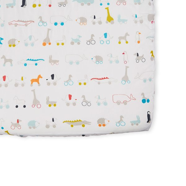 View larger image of Pull Toys Crib Sheet