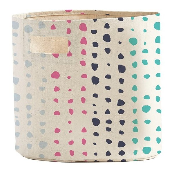 View larger image of Storage Bin - Painted Dots