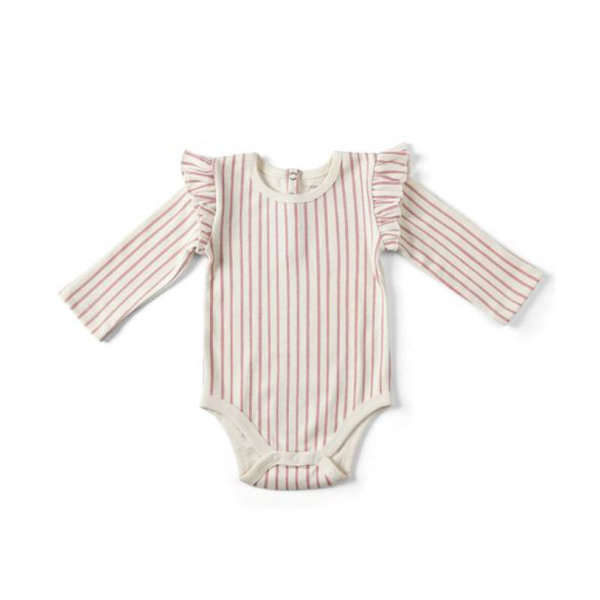 View larger image of Stripes Away Long Sleeve w/ Ruffle One-Piece