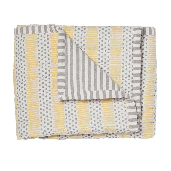 View larger image of Quilted Nursery Blanket - Grey