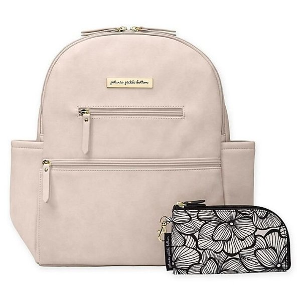 View larger image of Ace Backpack Diaper Bag - Ivory Leatherette