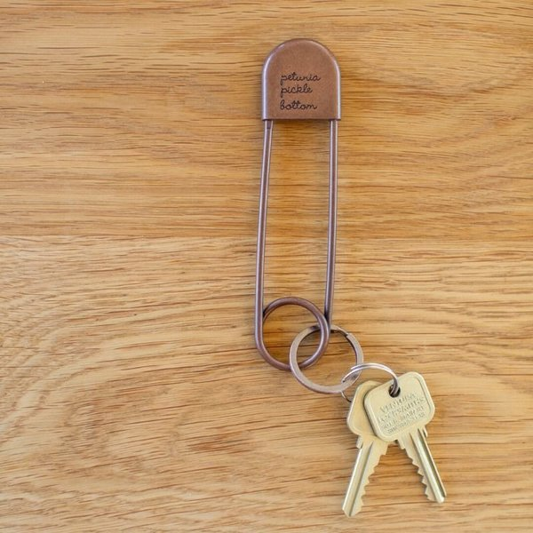 View larger image of Safety Pin Keychain - Antique Copper
