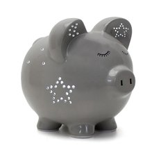 Grey Night Light-Pig