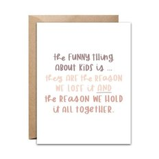 Funny Things Card