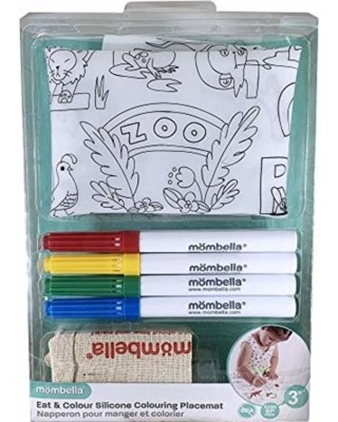 View larger image of Coloring Silicone Placemat with Markers - Zoo