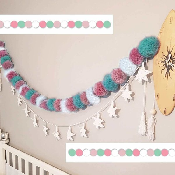 View larger image of Bunting Pom Pom-Pink