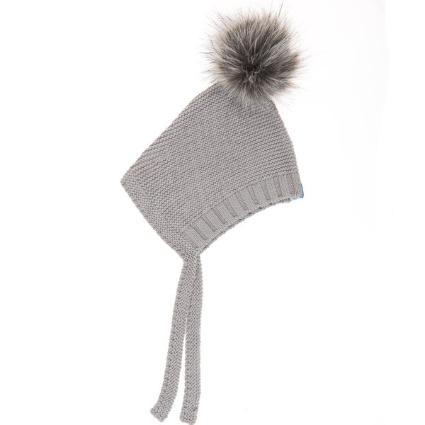 View larger image of Pom Pom Hat - Grey
