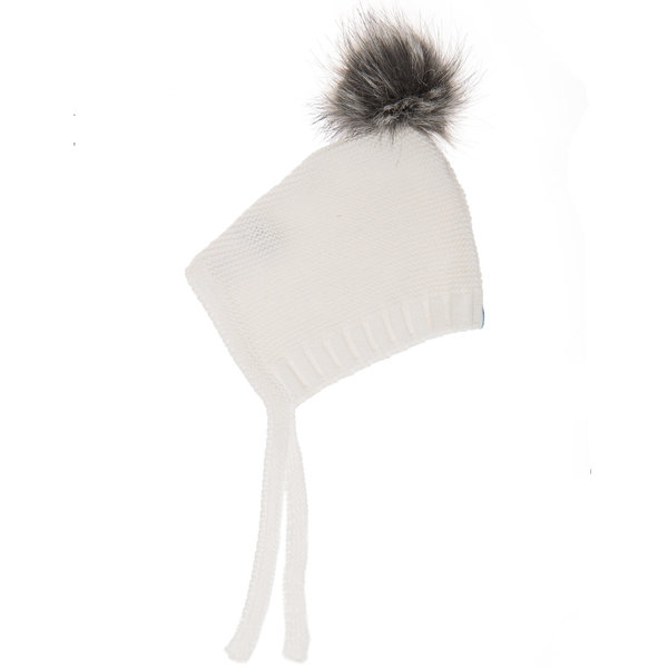 View larger image of Pom Pom Hat - Ivory