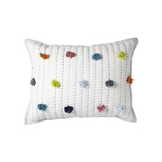 Quilted Nursery Pillow - Multi