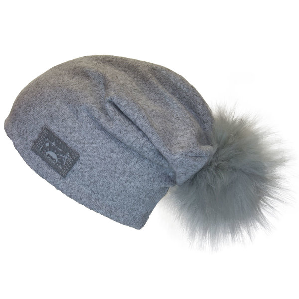 View larger image of Pom Slouchy Hat - Grey