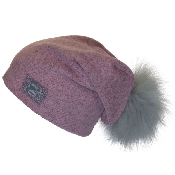 View larger image of Pom Slouchy Hat - Pink