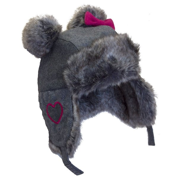 View larger image of Pom Trapper Hat-Grey-M