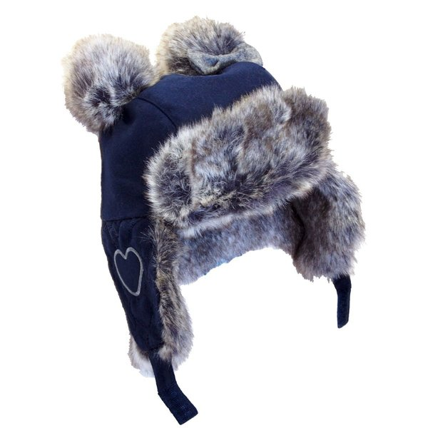 View larger image of Pom Trapper Hat-Navy-S