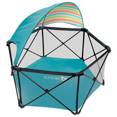 Pop N Play Playard with Canopy - Aqua