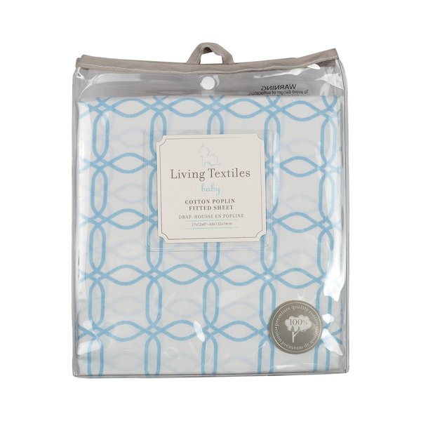 View larger image of Poplins Fitted Sheet-Blue Link