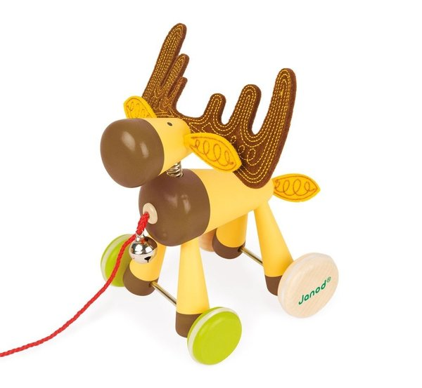 View larger image of Pull Along Toy-Elk