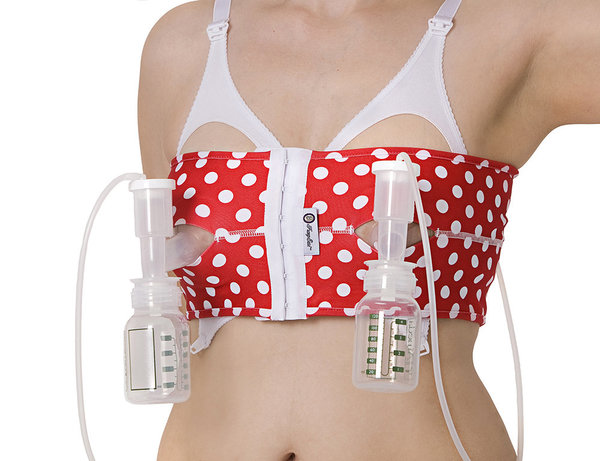View larger image of PumpEase Fab50 Hands Free Pumping Bra - Red