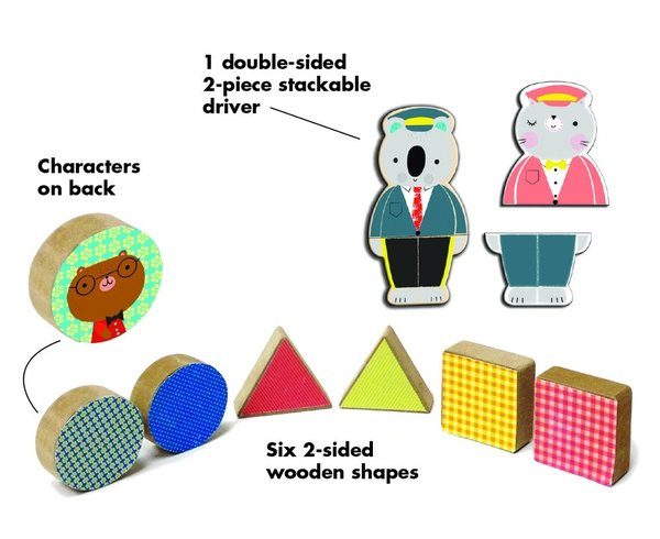 View larger image of Puzzle Stacker - Busy Bus