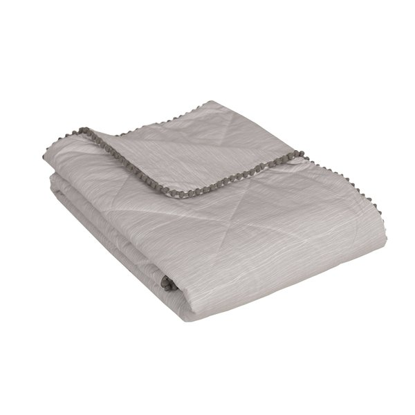 View larger image of Quilted Comforter - Grey Crinkle