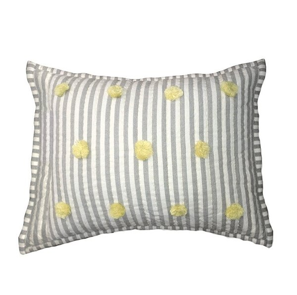 View larger image of Quilted Nursery Pillow-Grey