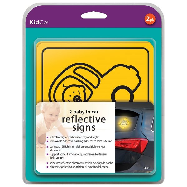 View larger image of Reflective Baby In Car Sign - 2 Pack