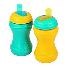 Soft Spout Cups - 2pack - Aqua/Yellow