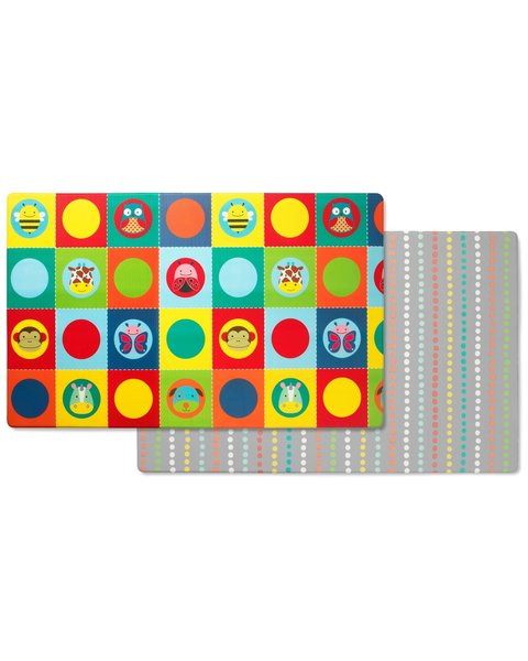 View larger image of Reversible Playmat - Zoo / Dots