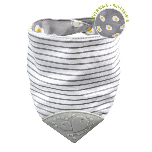 View larger image of Reversible Teething & Drool Bib - Eggs