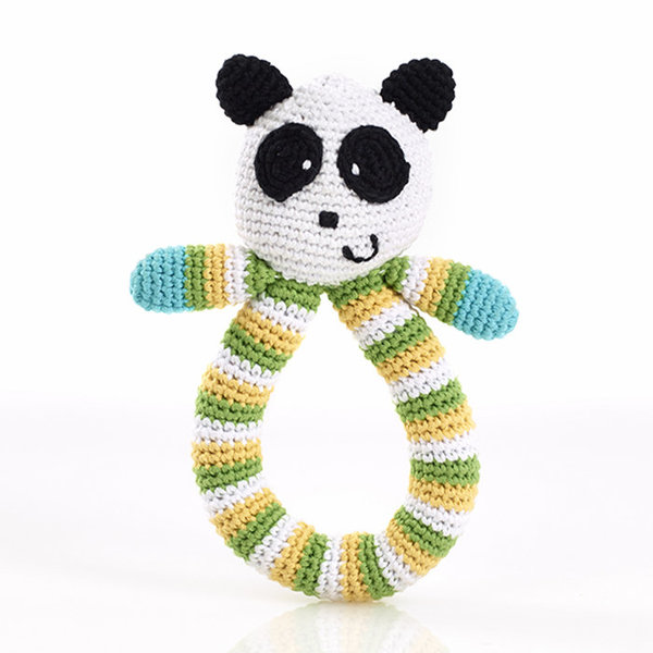 View larger image of Ring Rattle - Panda