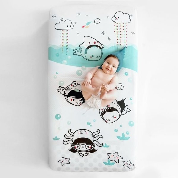 View larger image of Crib Sheet - Dive In (Satin)