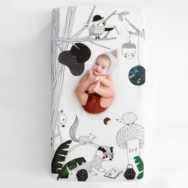View larger image of Crib Sheet - Woodland Dream (satin)