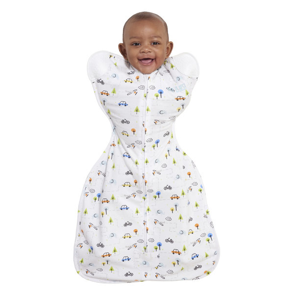 View larger image of SleepSack Self-Soothing Swaddle - Boy Tinytown - S