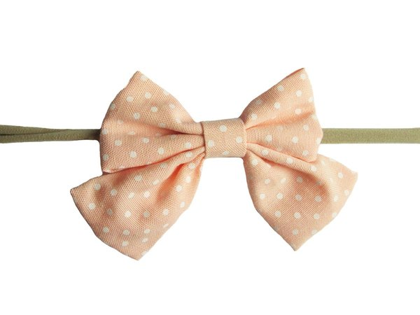 View larger image of Sailor Bow HB-Peach Dot