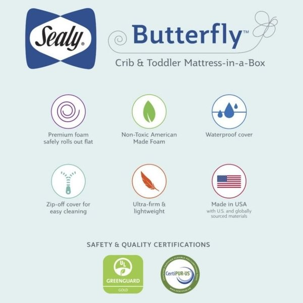View larger image of Butterfly Breathable Knit Crib Mattress