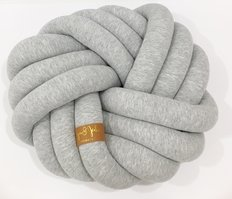 Kids Floor Seat Knot Cushion - Light Grey