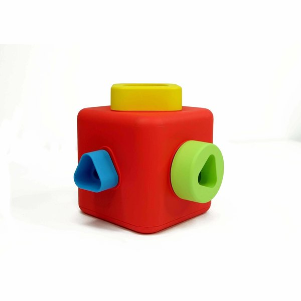 View larger image of Shape Sorting and Stacking Cube