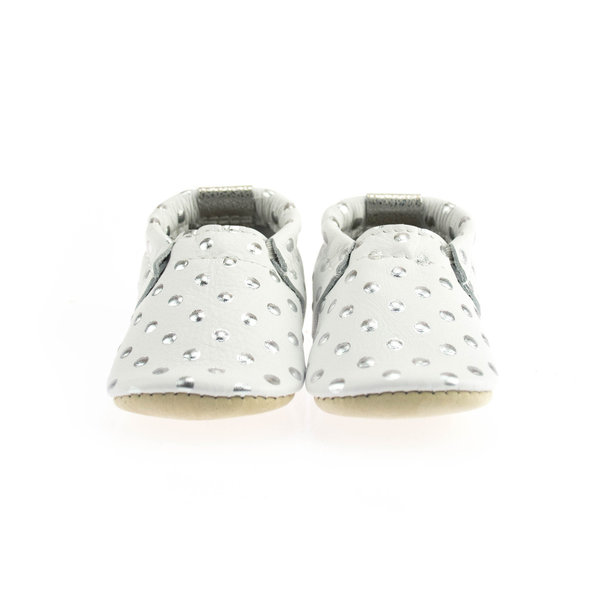 View larger image of Shine Silver Dots Soft Soles