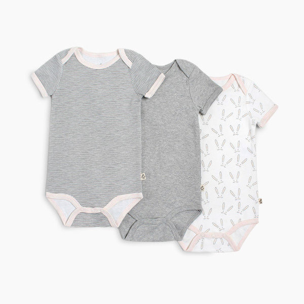 View larger image of Short Sleeve Onesies - Girl- 3pk