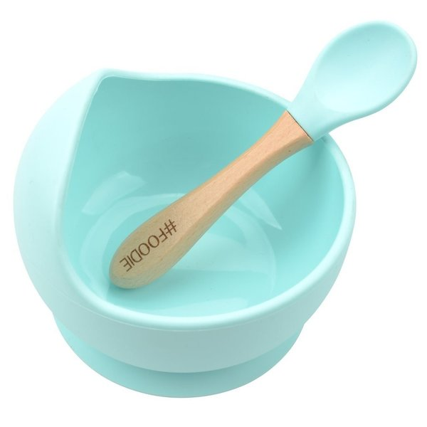 View larger image of Silicone Bowl + Spoon Set