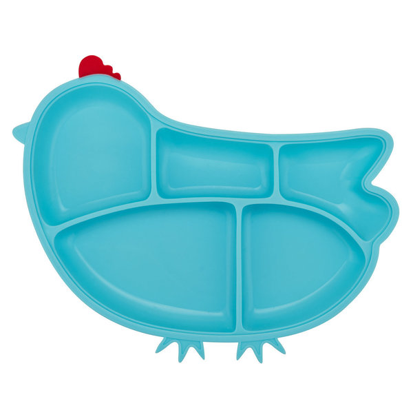 View larger image of Silicone Chicken Plate - Blue
