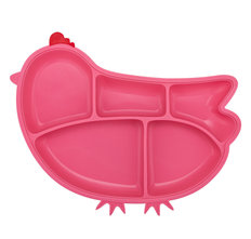 Silicone Chicken Plate - Pink