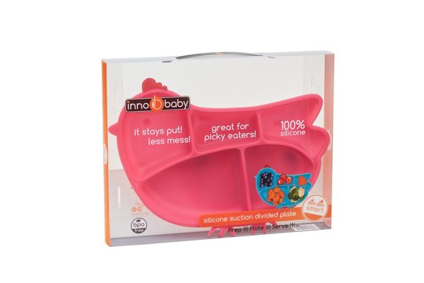 View larger image of Silicone Chicken Plate - Pink