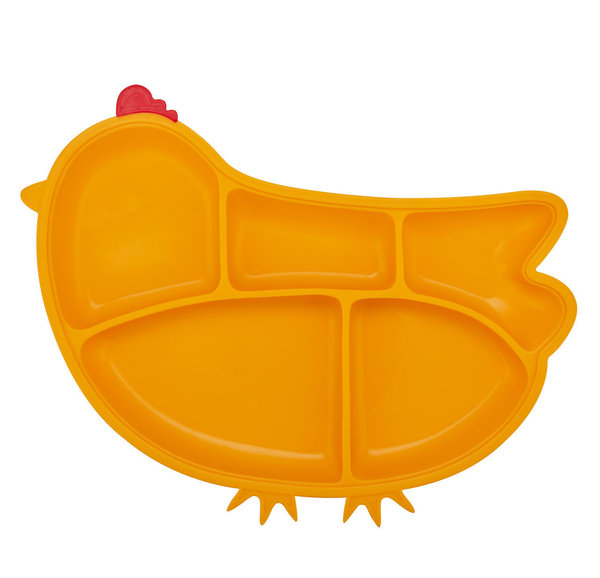 View larger image of Silicone Chicken Plate - Yellow