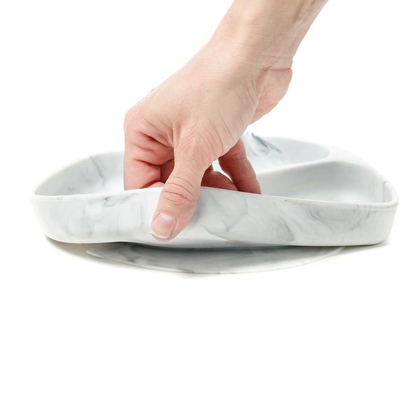 View larger image of Silicone Grip Dish - Marble