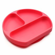 Silicone Grip Dish - Red