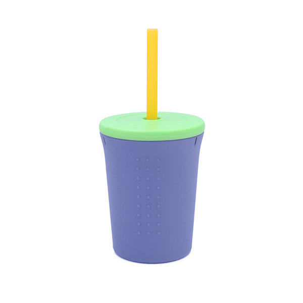 View larger image of Silicone Straw Cup - 12oz - Grey