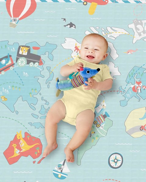 View larger image of Reversible Playmat - Little Travelers